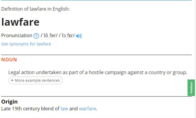 Lawfare Oxford Defined