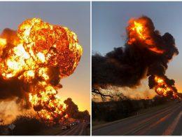 MASSIVE Explosion, Crews on the Scene